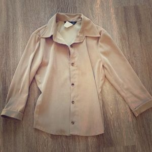 Tops - SALE!!! ANY 10 ITEMS FOR $75! Tan button up